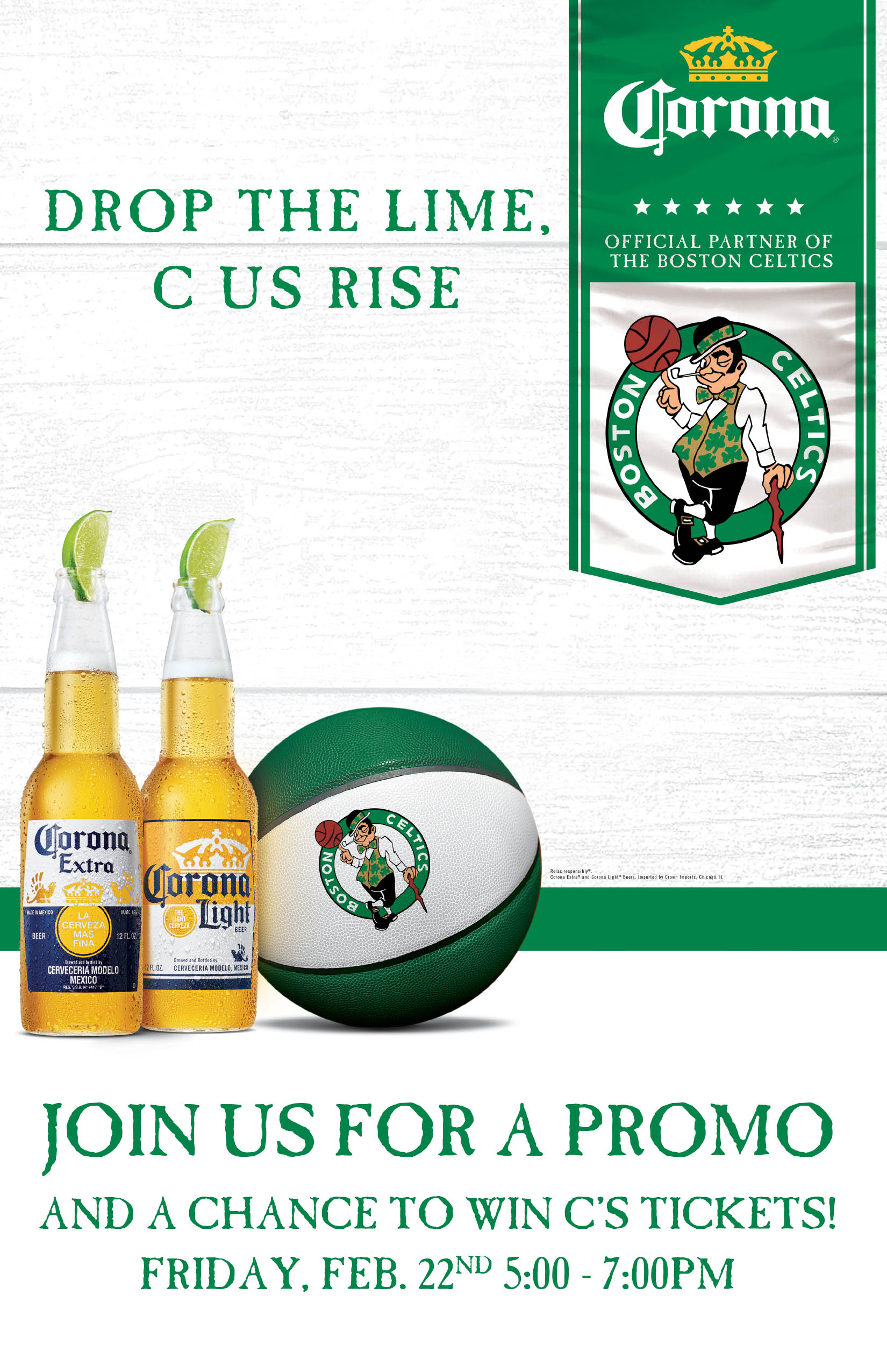 Boston Celtics Promo - Cheers Beacon Hill February 22nd