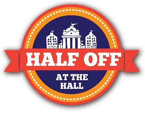 Half off at the Hall